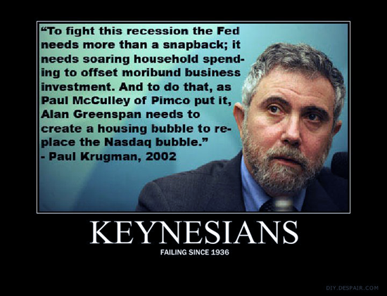 Keynesian Fail Demotivational Poster