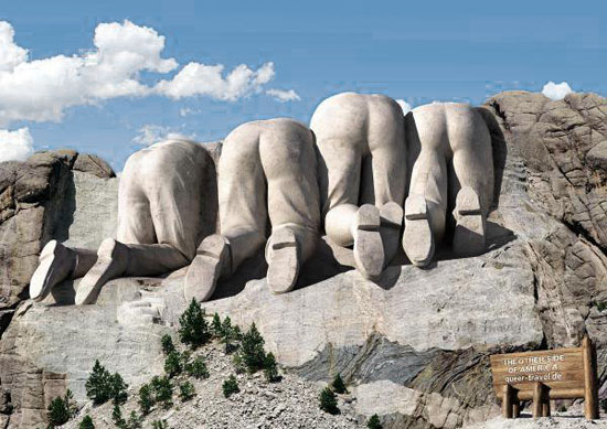 Back of Mt. Rushmore